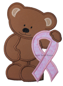 Awareness Bear-Awareness Bear Cancer Ribbon Health SheSewChic