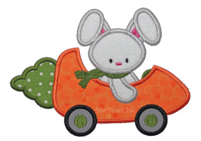 Bunny in a Carrot Car-Easter, SheSewChic, Bunny, Carrot, Spring, Holiday