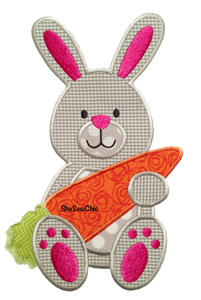 Bunny with Carrot-Bunny Easter Carrot