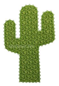 Cactus-Cactus Applique Motif SheSewChic Desert Western