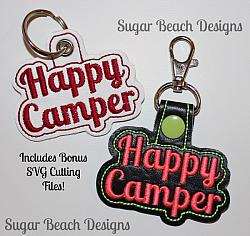 ITH Happy Camper Key Fob
