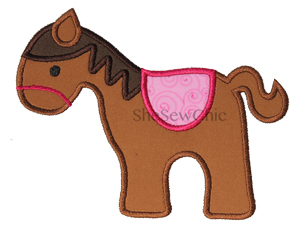 Horse-Horse Animal Cowboy Western SheSewChic