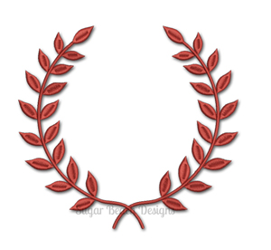 Laurel Monogram Wreath-Monogram Wreath Laurel