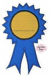 Ribbon-Ribbon award school teacher blue ribbon