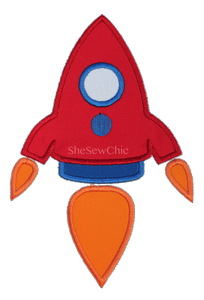 Rocket2-Rocket, Space, UFO, SheSewChic