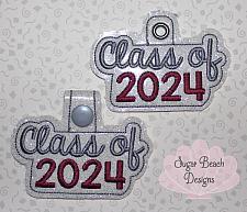 ITH Class of 2024 Key Fob-ITH, Class, Senior, 2024, Fob, Snap