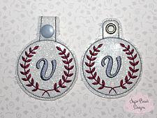 ITH Laurel Monogram Key Fob-Ith, Monogram, Fob, Laurel