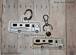 ITH Motorhome Key Fob-ITH, Snap, Fob, Key, Chain, RV, Class A, Motorhome, Camper, In the hoop