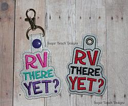 ITH RV There Yet Key Fob-ITH, Key, Fob, Snap, RV, Camper, Camping, Travel, Vacation