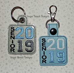 ITH Senior 2019 Vertical Key Fob