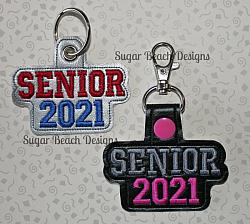 ITH Senior 2021 Key Fob-ITH, Key, Snap, Chain, Fob, In the hoop, vinyl,