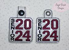 ITH Senior 2024 Vert Key Fob-ITH, School, Senior, 2024, Graduate