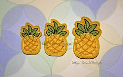 ITH Pineapple Feltie-ITH, Feltie, Bow, Pineapple, Felt, Vinyl, Embroidery Design, hoop