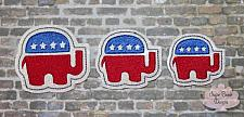 ITH Right Republican Elephant Feltie-Trump, Republican, Elephant, Politics, feltie