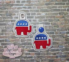 ITH Right Republican Elephant Fob-Fob, Political, Republican, Trump, Election
