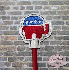 ITH Right Republican Elephant Pencil Topper-Republican, Trump, Right, Politics, Pencil