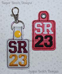 ITH SR23 Key Fob-ITH, In the hoop, key, snap, fob, grommet, rivet, school, senior, 2023