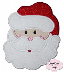 Santa Face-Santa, Christmas, St Nicholas, Holly, Merry, Xmas