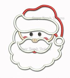 Santa Face-Santa, Christmas, St Nicholas, Holly, Merry, Xmas