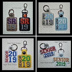 ITH Senior 2019 Key Fob Set-ITH, Senior, 2019, fob, snap, grommet, rivet, key