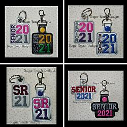 ITH Senior 2021 Key Fob Set-ITH, 2021, Senior, Fob, Snap, Tab, Key