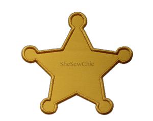 Sheriff's Badge-Badge, Police, Sheriff, SheSewChic, western
