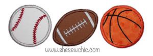 Sports Trio-Basketball, Baseball, Football, Sports